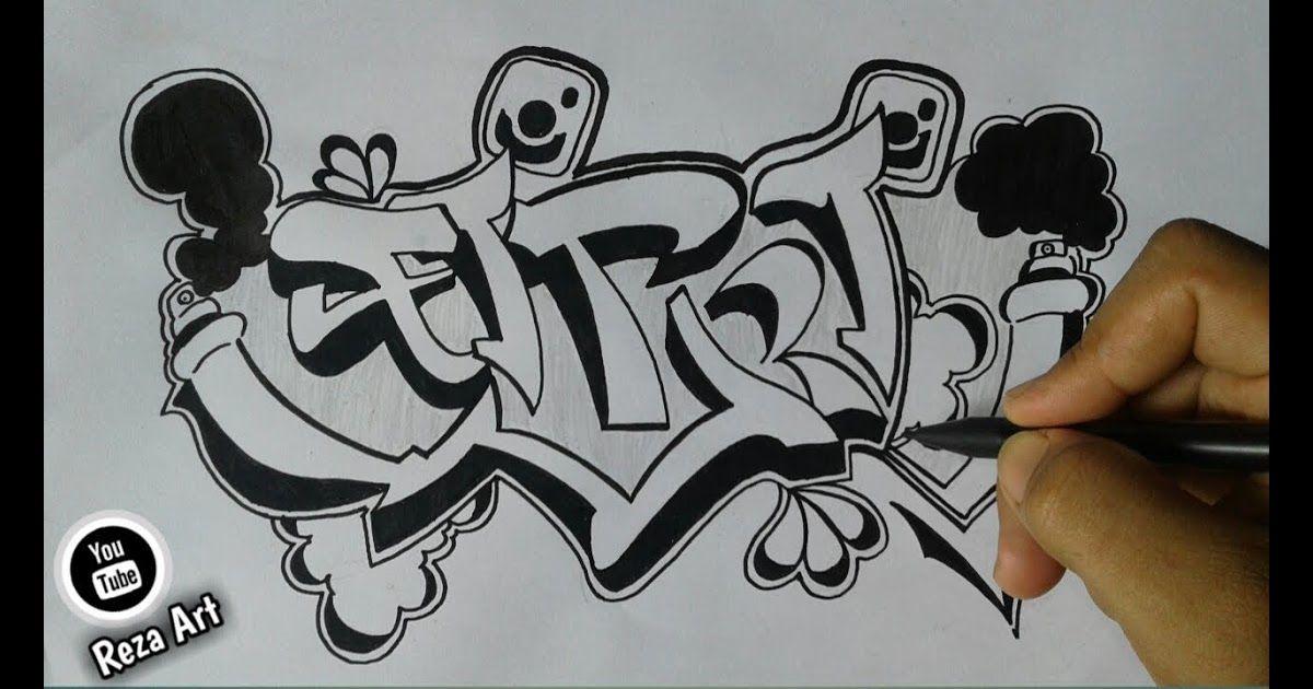 Gambar Nama Tulisan Fitria Seni Doodle Grafiti Doodle
