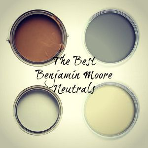 the best most popular benjamin moore neutrals of brown and cream and gray - Kylie M Interiors