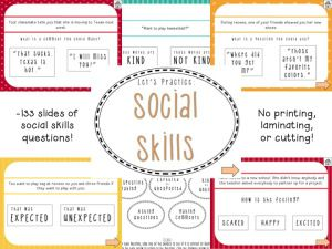 Speechy Musings: An interactive Powerpoint targeting social skills and social language! 133 slides and no printing needed!