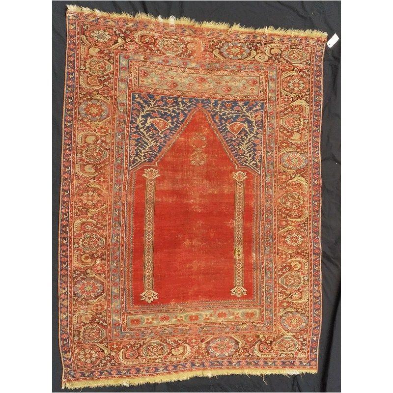 Ghiordes Gebetsteppich West Anatolien, 18. Jhdt. Size: 168 x 130 cm