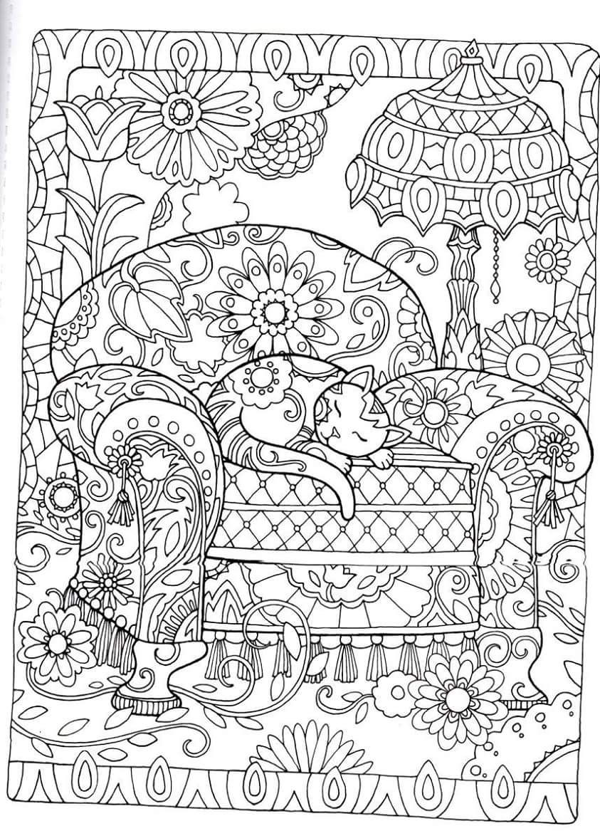 Gatos para Colorir | desenhos colorir | Pinterest | Mandalas ...