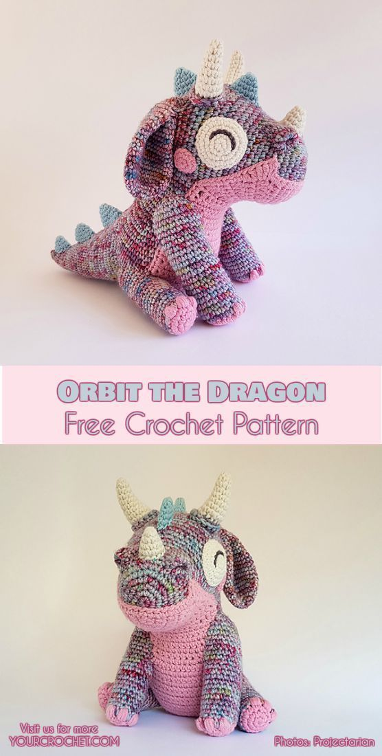 Orbit the Dragon Free Crochet Pattern #crochetdinosaurpatterns