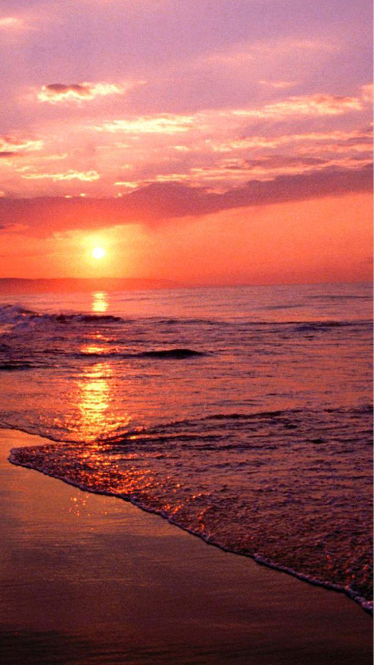 Nature Sunset Sea Beach Iphone 8 Wallpapers Sunset Sea Sunset Wallpaper Beach Sunset