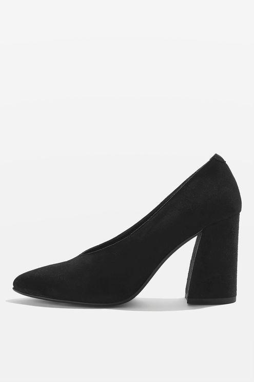 23f50ca6987b GINA V-Cut Flare Block Heel Shoes | dresses & trousers & shoes