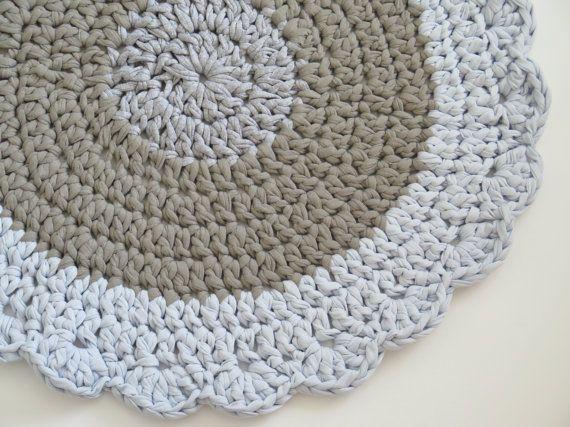Crochet Rug Small Round Rug Bath Mat Boy Rug Ot Sweetncozy Na Etsy Small Round Rugs Round Rugs Bath Rugs