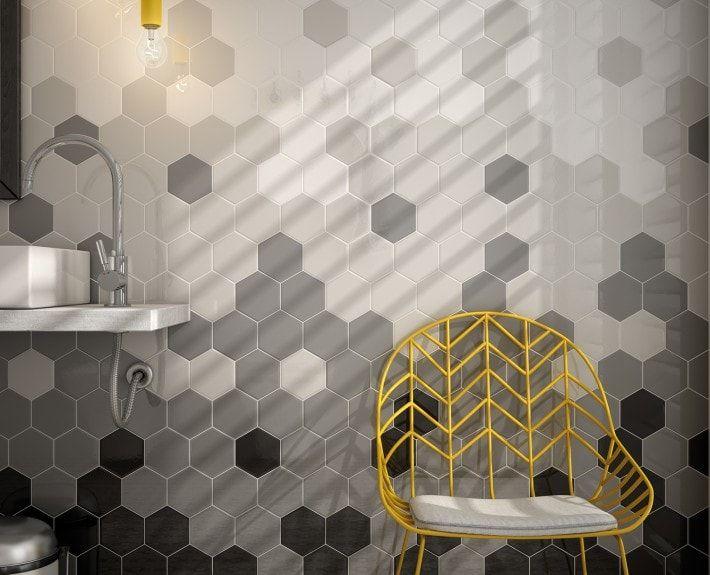 Hexagon Tegels Wit : Zwart wit grijs hexagon zeshoekige tegels home to home