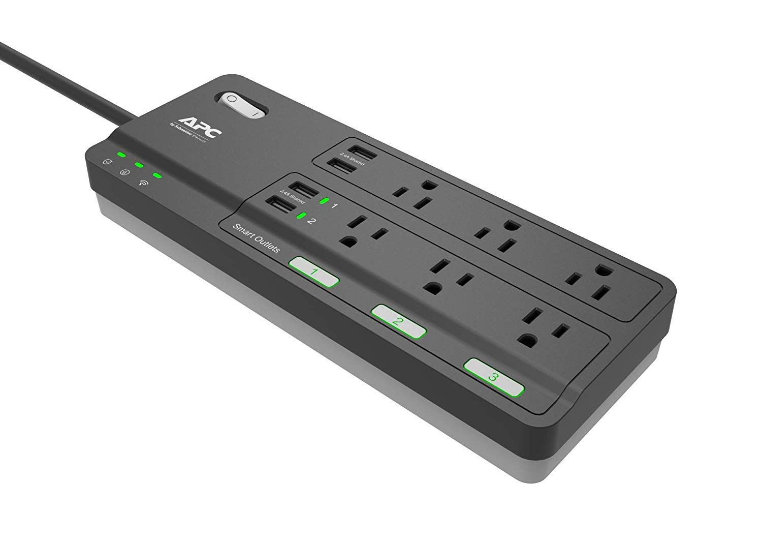 Apc Smart Plug Surge Protector Power Strip 3 Alexa Smart Plugs 6 Outlets Total With 2160 Joules Of Surge Protect Smart Plug Smart Plugs Power Strip