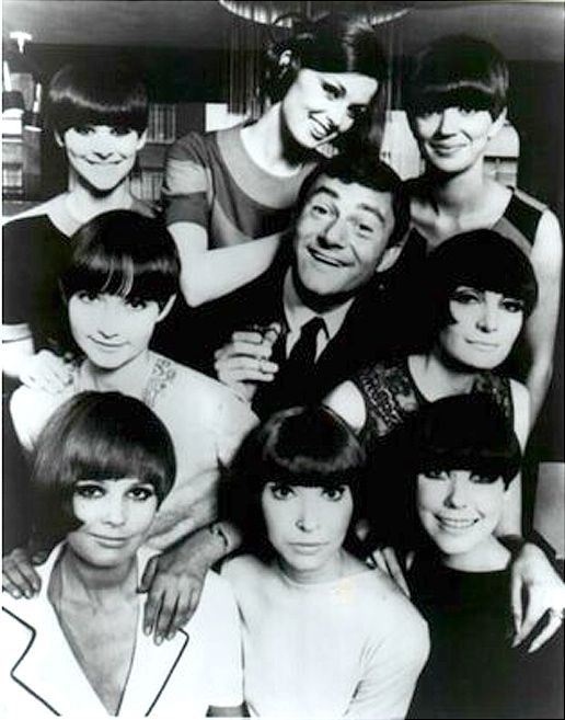 Vidal Sassoon and his signature hairstyles