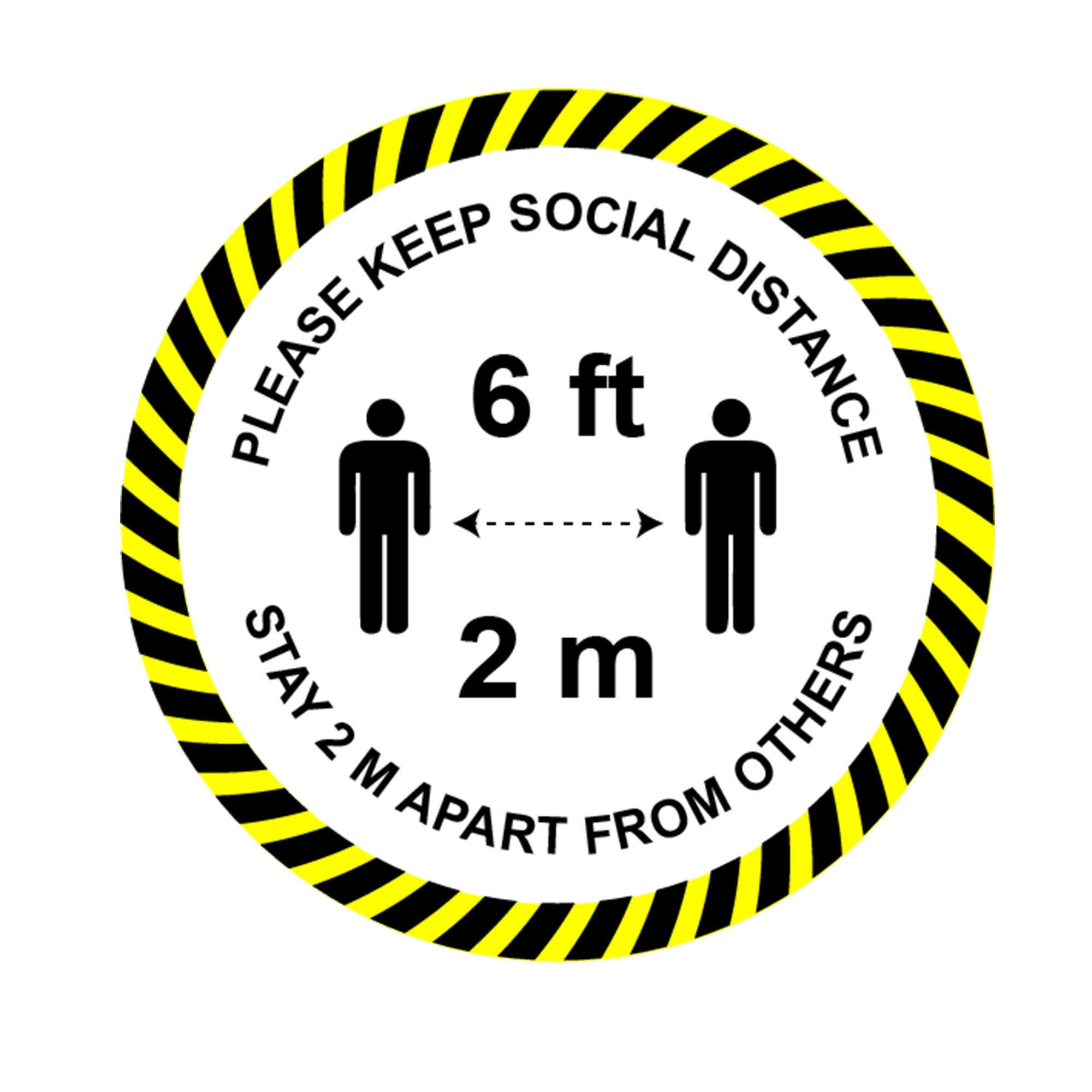Pin on Social distancing stickers