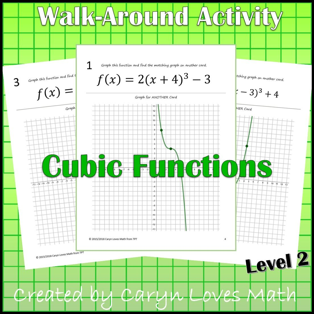 Graphing Cubic Functions Level 2 Graph By Transformations