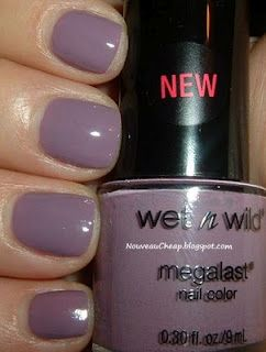 Wet n Wild Bite the Bullet (dusty purple / grey-purple nail