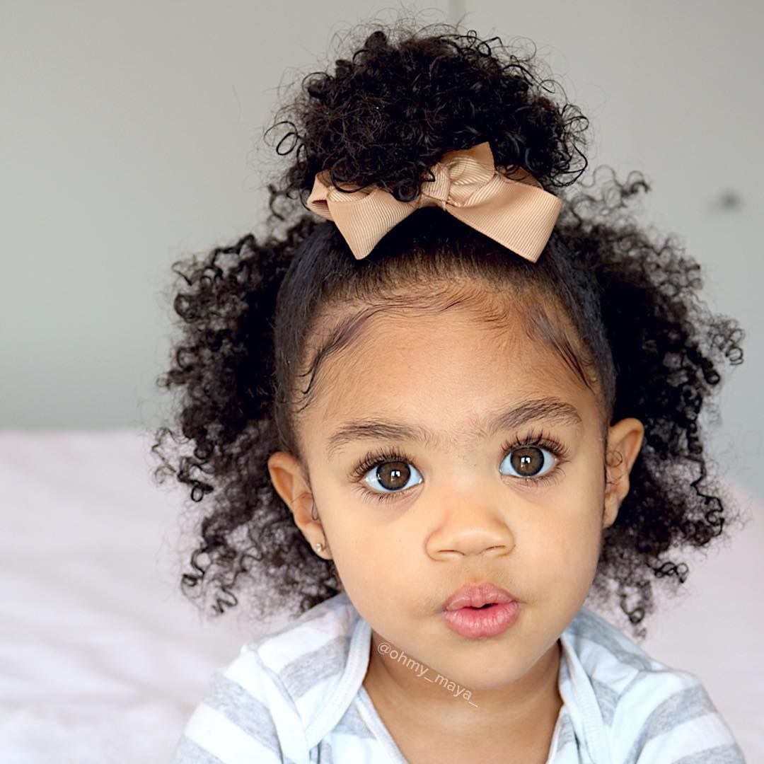 Maya years gorgeous baby girl with natural curls dec