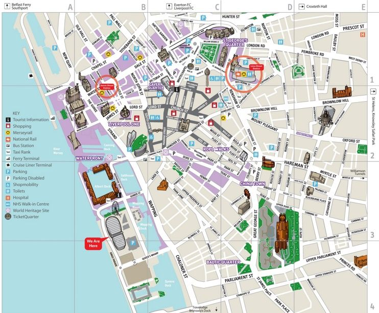 Liverpool city center map Maps Pinterest Liverpool city and City