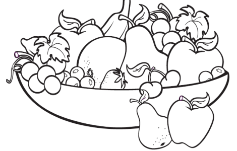 Fruit basket Coloring page | Denenecek Tarifler | Pinterest | Craft