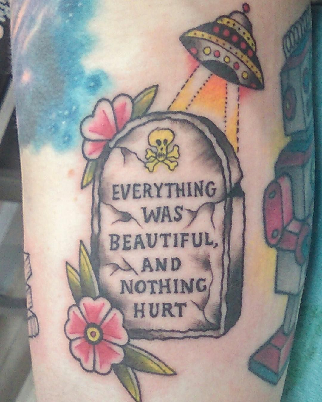 Tombstone Tattoo Everything Was Beautiful And Nothing Hurt By