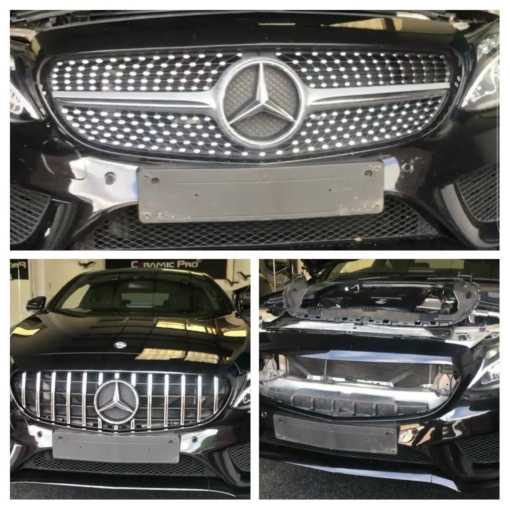 Changing the grill on a Mercedesbenz... www.scldetailing