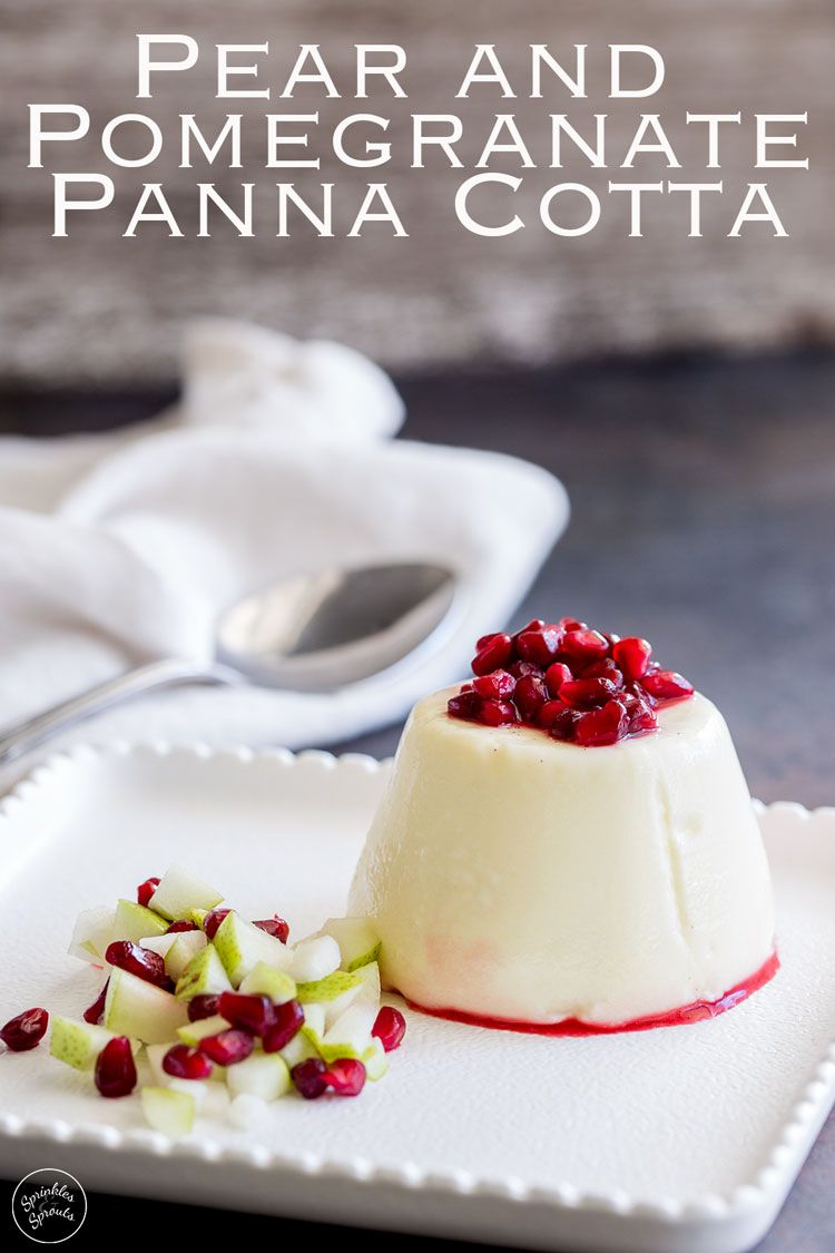 This Pear And Pomegranate Panna Cotta Is Rich And Creamy With A Deliciously Fruity Festive Edge The Col Dessert Recipes Easy Diy Food Recipes Diy Easy Recipes
