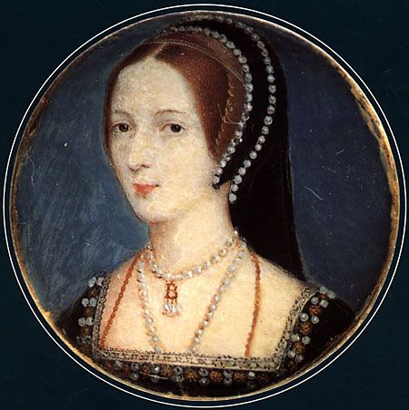 Photo of A miniature of Anne Boleyn based on the French hood pattern