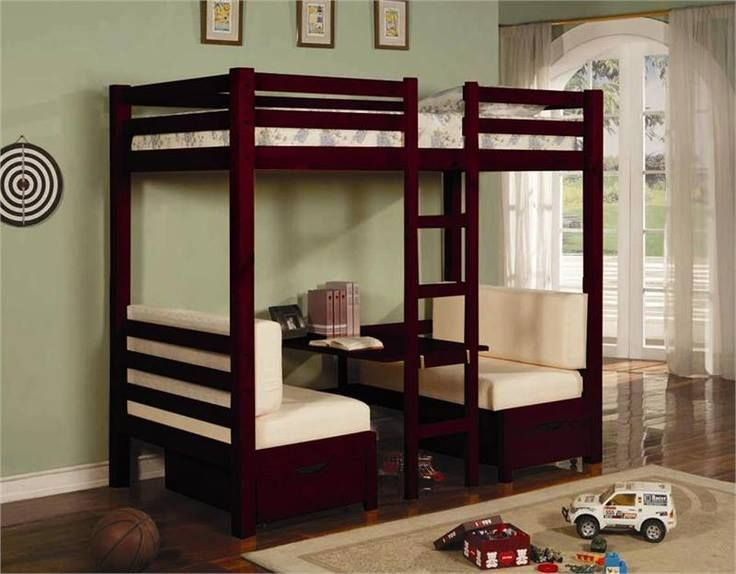 Bunk Bed On Top Table And Seating On Bottom Looks Like