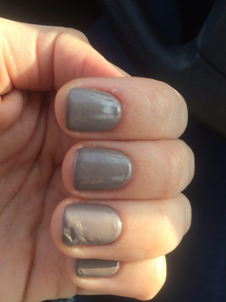 Air Bubbles And Nail With Five Layers Of Polish That Could Never Base Coat Nail Polish Nail Polish Color Change Nail Polish