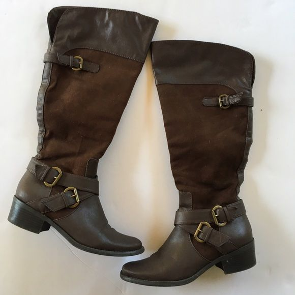 7.5 boots From Macy's size 7.5 worn one time Shoes Over the Knee Boots