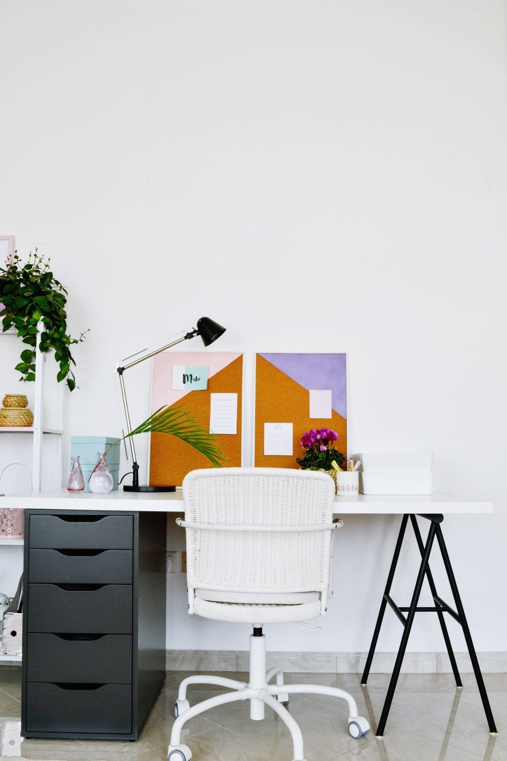 Colorful IKEA Workspace under $250