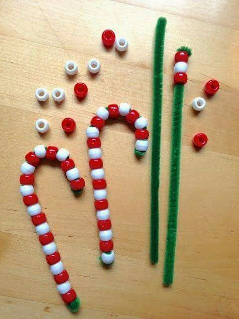 Candy cane ornaments -   24 toddler crafts for girls
