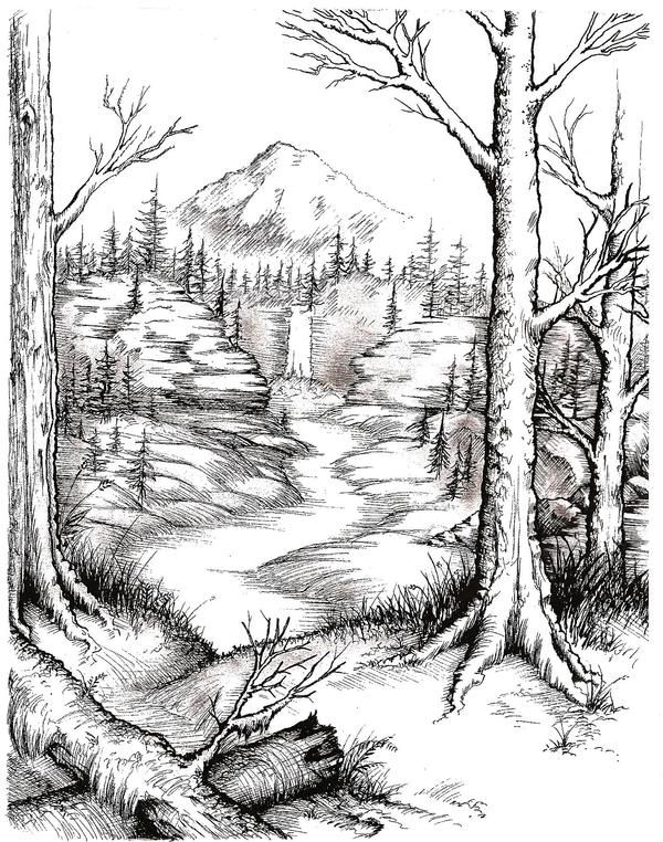 Valley -- Line Art by Admiral-Savage on DeviantArt
