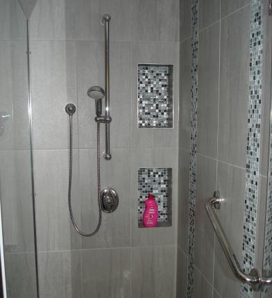 Niche de douche avec mosaique | Mosaïque en 2019 | Pinterest | Niche ...