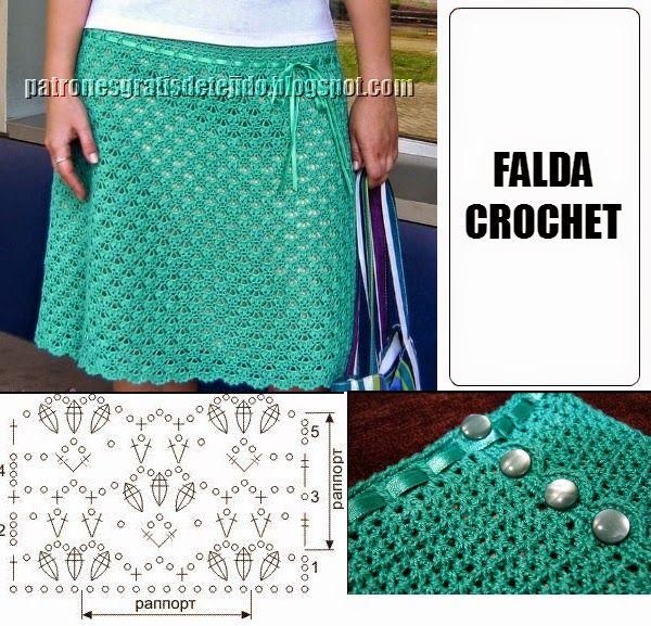 Faldas Tejidas y Inspiradoras | Pinterest | Falda, Esquemas y Dos agujas
