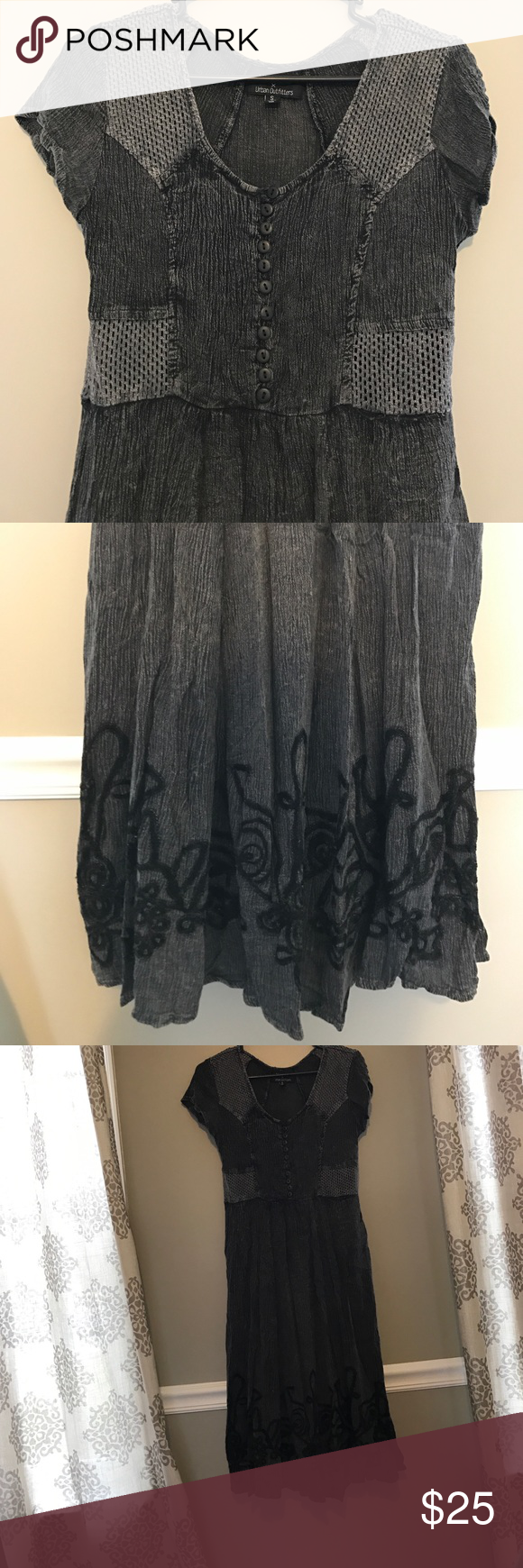 Urban Outfitters Gray Dress Free people inspired urban outfitters dress. Depending on how tall or short you are it will either be a midi or a maxi. Urban Outfitters Dresses Midi