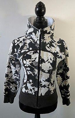 796e900f84c Lululemon Black & White Floral Scuba 4 Remix Hoodie Yoga Sweater Jacket  Flowers