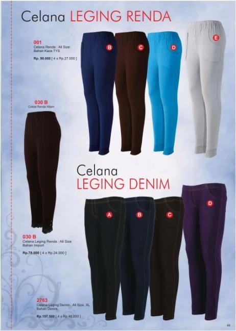 Celana Leging Renda Dan Denim Dengan Bahan Berkualitas Dan Nyaman Anda Kenakan Dalam Busana Sehari Hari Celana Renda Muslim