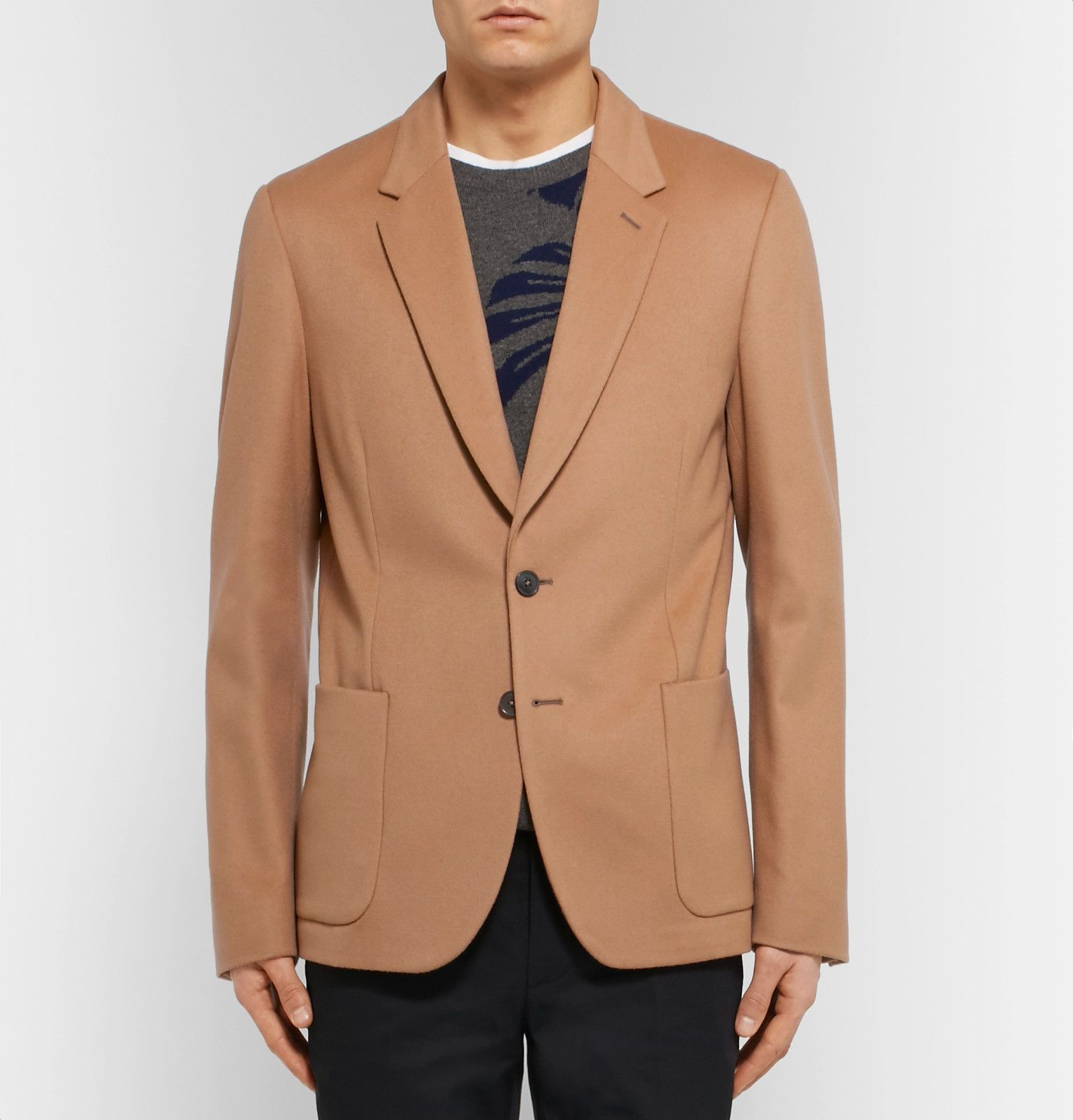 0451b53f911 The warm camel hue of Paul Smith s wool and cashmere-blend blazer makes it a