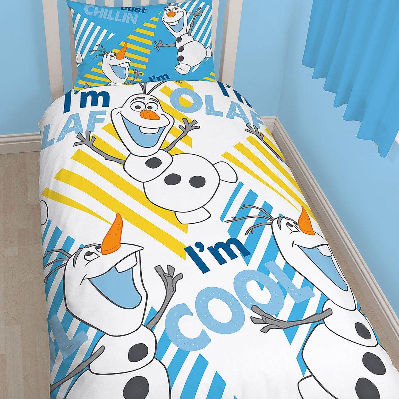Funda nordica Disney Frozen Olaf Chillin, reversible, Cama 90cms