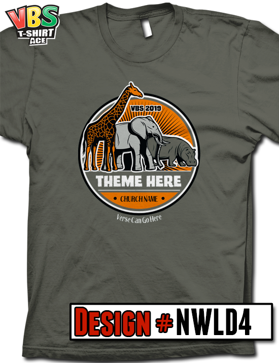 115b0771 Customize your 2019 VBS shirt design for In the Wild, Roar, or any Jungle