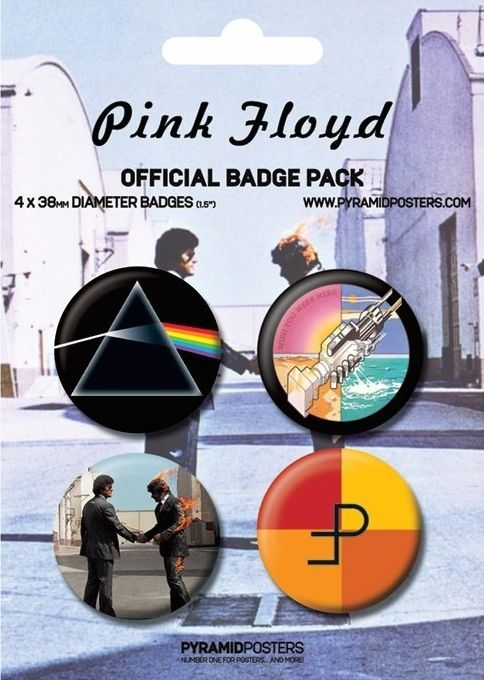 Badge Pin Button 38 mm Pink Floyd