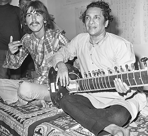 George Harrison Ravi Shankar Sitar Virtuoso Hobnobbed With The Beatles Became A Hippie Musical Icon And Spearheaded First Rock Benefit