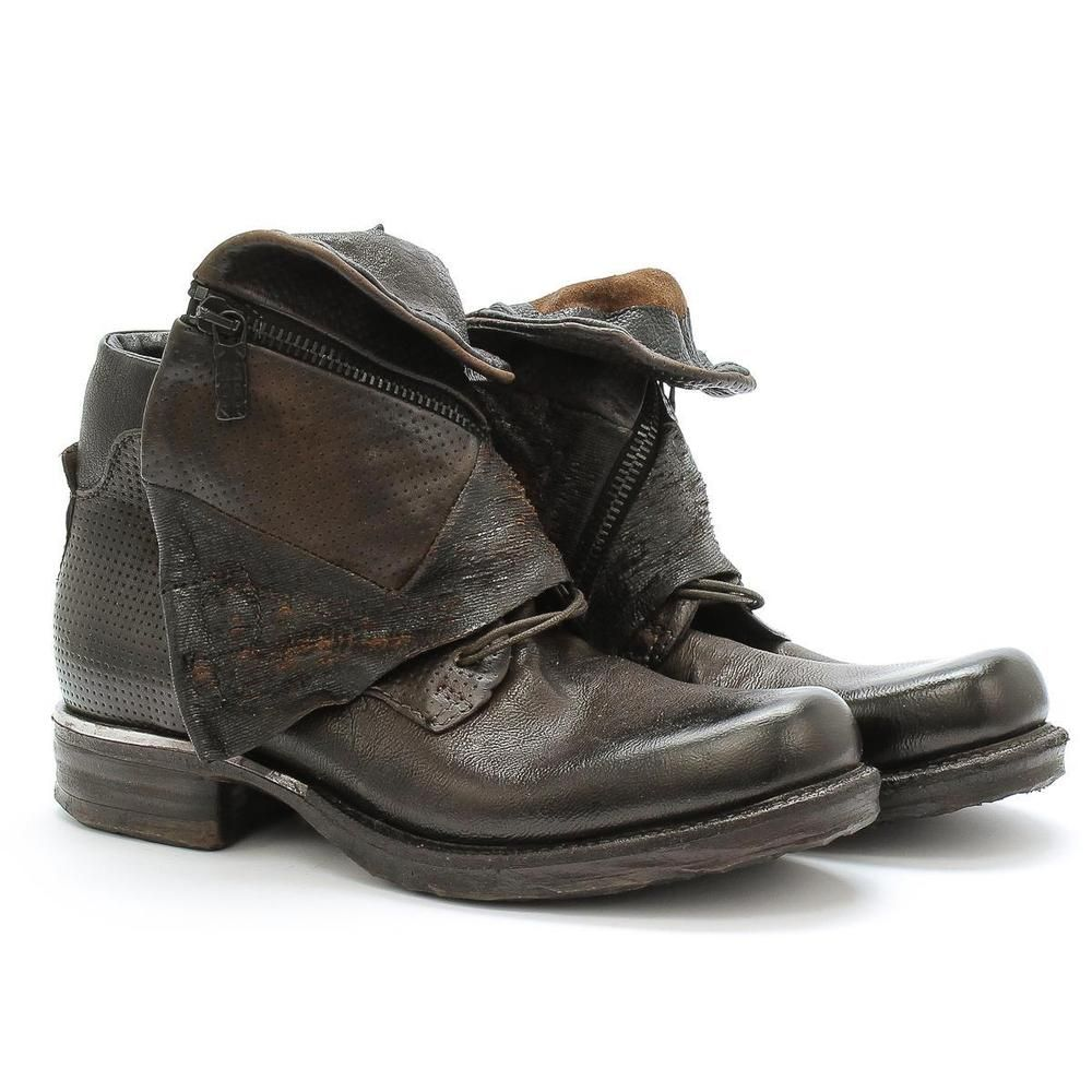 low priced 6f789 5dbc3 Details about A.S.98 Low Boots Saintmetal 717291 Choco ...