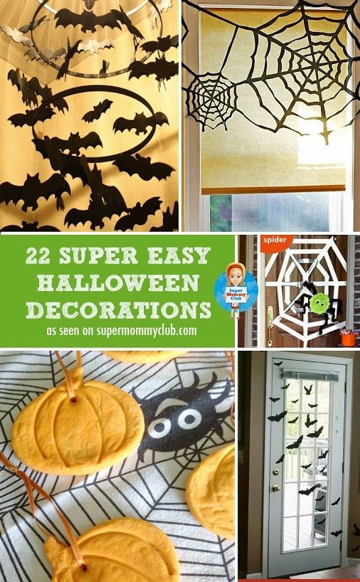 22 super easy homemade Halloween decorations \u003cbr Holiday\u0027s - ideas halloween decorations