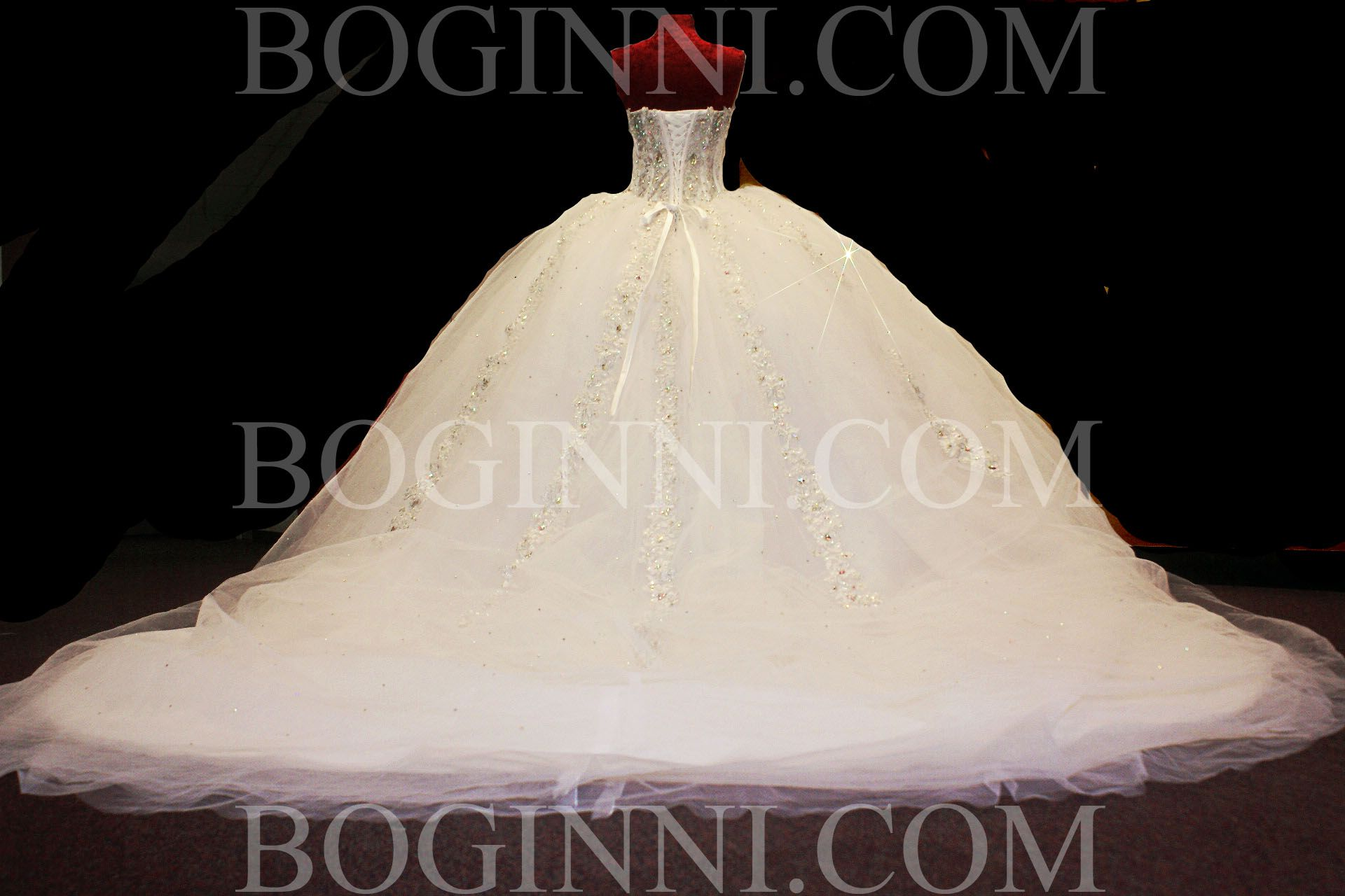 White Wedding Dresses with Train