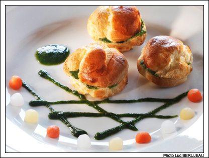 Recette gastronomique profiteroles d escargots au beurre for Entree gastronomique