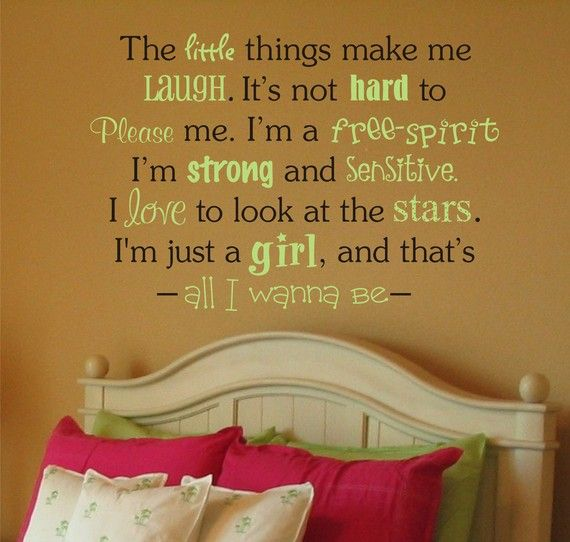 The Little Things In Life Vinyl Lettering -Teen Vinyl Wall Decal ...
