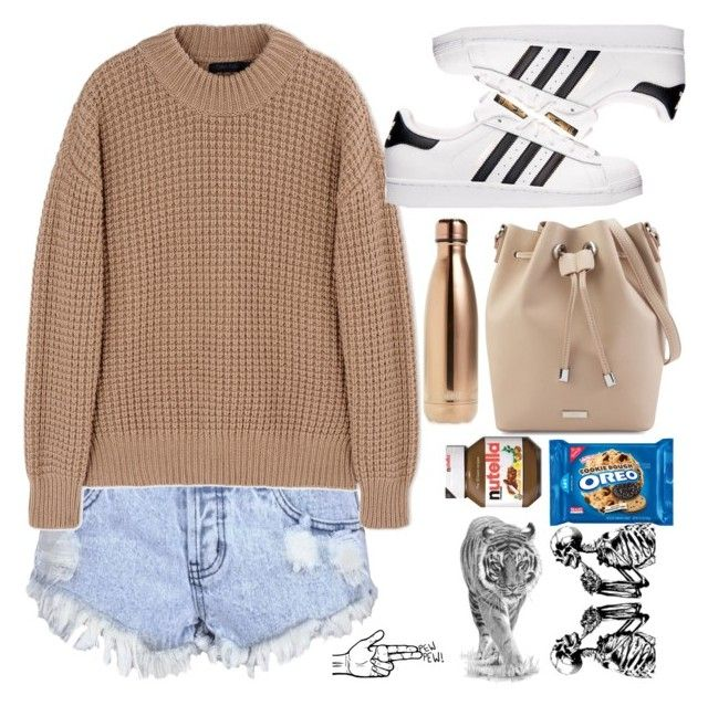 """""""Wish we could turn back time, to the good old days."""" by longboarder21 ❤ liked on Polyvore featuring Glamorous, Calvin Klein Collection, adidas and S'well"""