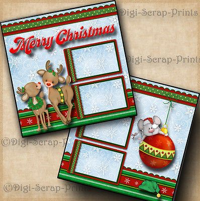 Details about MERRY CHRISTMAS ~ 2 premade scrapboo