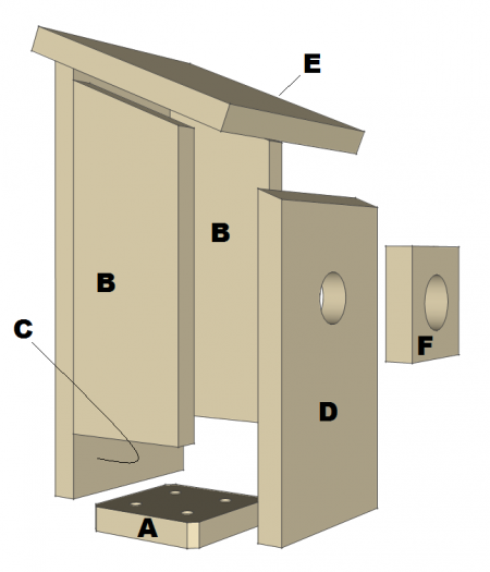 Bluebird House Plans Free PDF Download Construct101
