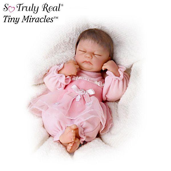 Lifelike Sleeping 10 Inch Vinyl Doll Baby Dolls Live Baby Dolls Life Like Baby Dolls