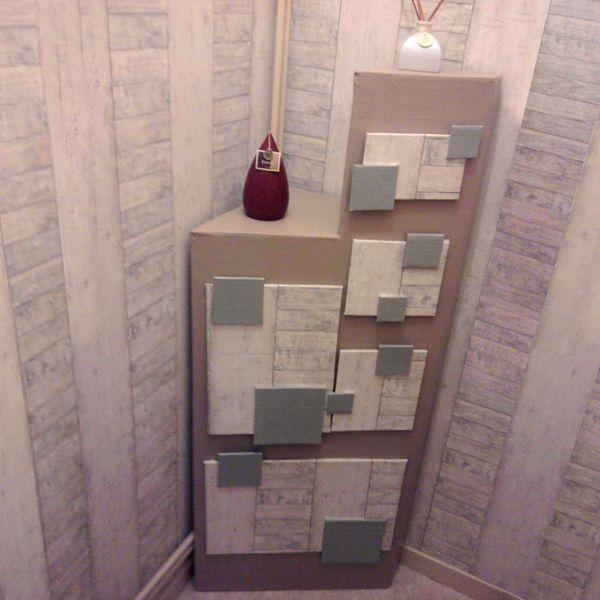 Voici Une Nouvelle Realisation Un Meuble En Carton Tout Particulierement Adapte Pour Une Piece Etroite Rangement Carton Meuble En Carton Meubles En Carton
