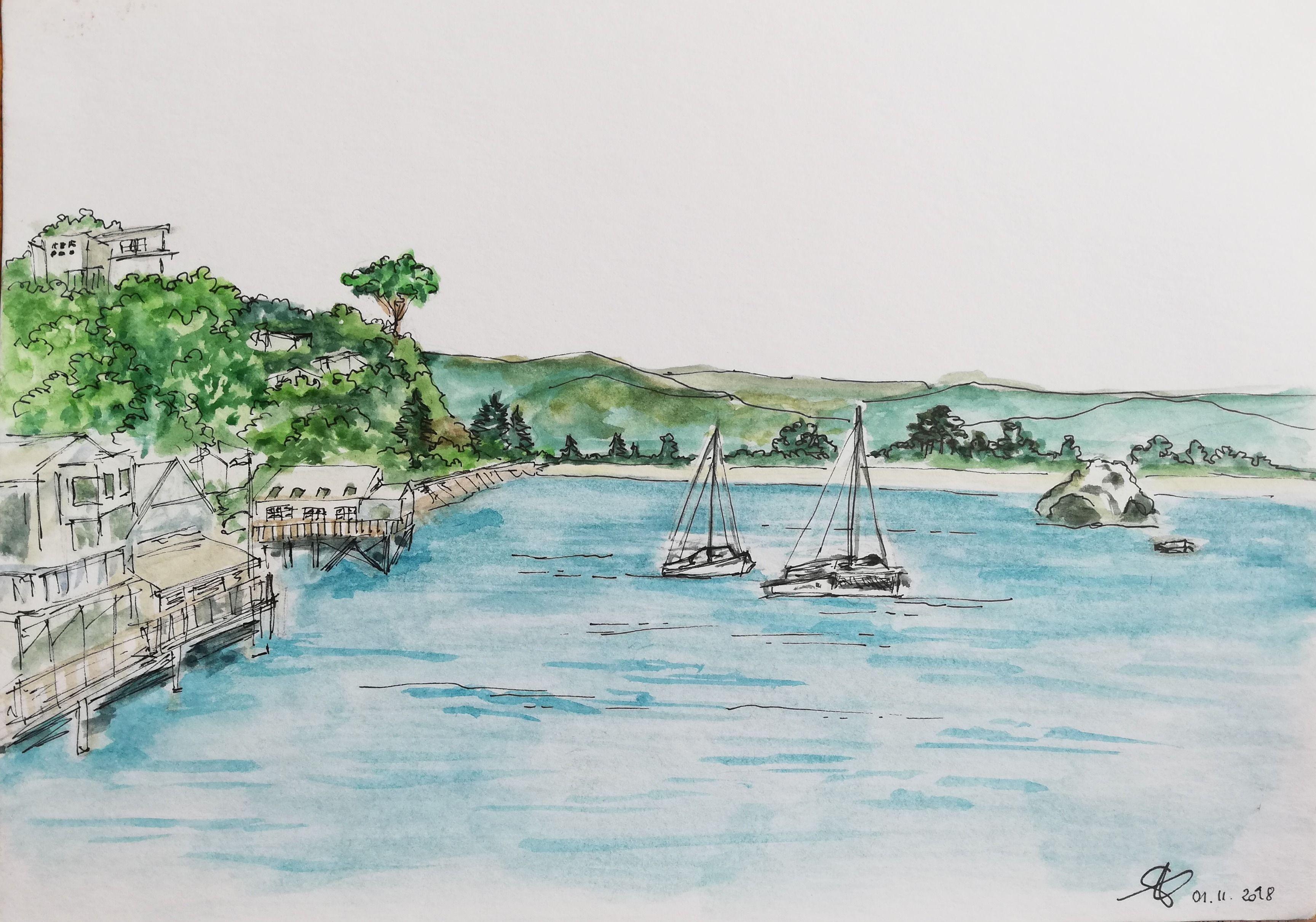 Josee Prudhomme Voler Aquarelle Et Encre Watercolor Ink