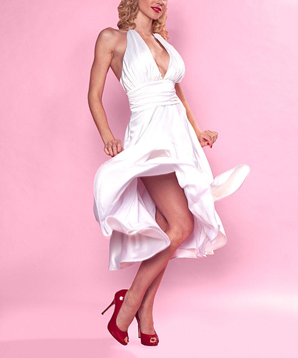 Look at this #zulilyfind! Bettie Page Cream Halter Dress - Plus Too by Bettie Page #zulilyfinds